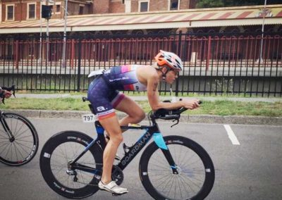 Erin Doyle-action shot from Sparke Helmore Triathlon