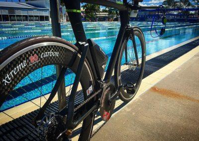 Zsolt Bike poolside